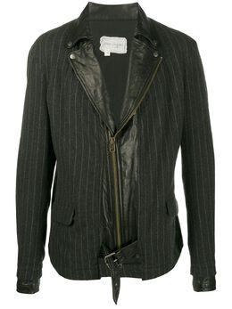 Greg Lauren пиджак с контрастными вставками AM086