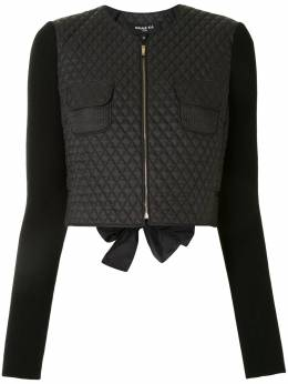 Paule Ka diamond-quilted cropped jacket 166V017