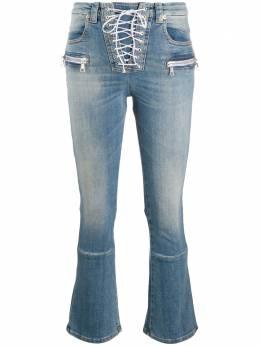 Unravel Project укороченные джинсы со шнуровкой UWYB007E20DEN001