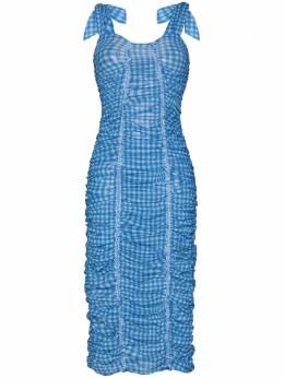 Molly Goddard сетчатое платье Severine в клетку гингем MGSPBRO06SEVERINEDRESS