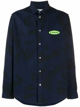 Iceberg рубашка с нашивкой-логотипом и камуфляжным принтом G0500238