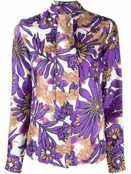 Victoria Beckham блузка с завязками на воротнике и цветочным принтом 1320WSH001661B