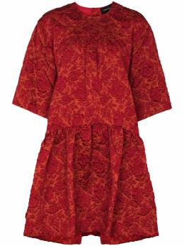 Simone Rocha платье миди из ткани клоке с цветочным узором 50110385CLOQUE
