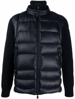 Moncler Grenoble куртка с высоким воротником и стегаными вставками F20979B5050094778