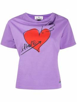 Vivienne Westwood Anglomania футболка с принтом и воротником хомут 1701003521719