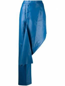 Materiel брюки асимметричного кроя из искусственной кожи SS20ALN898PABL