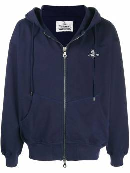 Vivienne Westwood Anglomania embroidered logo hoodie 2602002321692