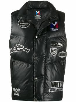 White Mountaineering дутый жилет с нашивками WM1973229A