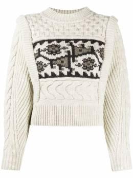 Isabel Marant Etoile cropped intarsia cable knit jumper PU134820A010E