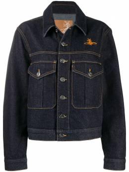 Vivienne Westwood Anglomania джинсовая куртка с вышитым логотипом 390100061