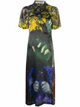 Ottolinger платье миди с графичным принтом DR06L