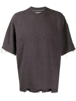 White Mountaineering футболка с короткими рукавами и эффектом потертости WM1973516