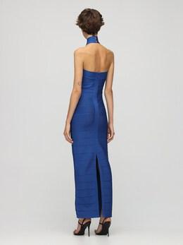 Длинное Платье Из Джерси Стрейч Herve Leger 72IL5V020-NDY5IFNBUFBISVJF0