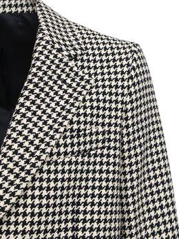 Wool Blend Houndstooth Coat Ami Alexandre Mattiussi 72I3J5024-MDEy0
