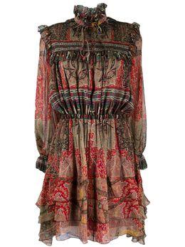 Etro платье со сборками и принтом 189655102