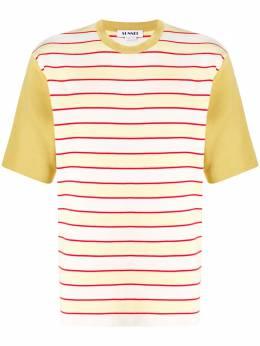 Sunnei полосатая футболка с контрастными рукавами T01