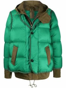Sacai многослойное стеганое пальто 2002317M