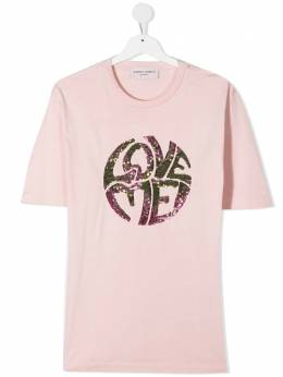 Alberta Ferretti Kids футболка с пайетками 025379