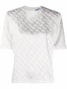 The Attico атласная футболка с жаккардовым узором 202WCT04V013