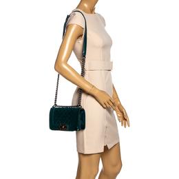 Chanel Dark Green Velvet Small Boy Flap Bag 325261