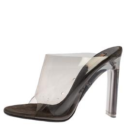 Yeezy Grey PVC Season 6 Mule Sandals Size 36 326689