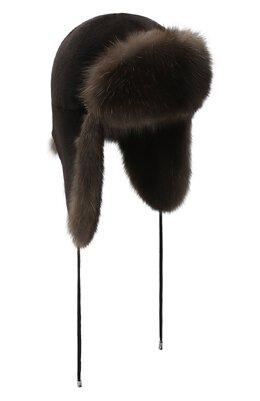 Норковая шапка-ушанка Kussenkovv 90213504094