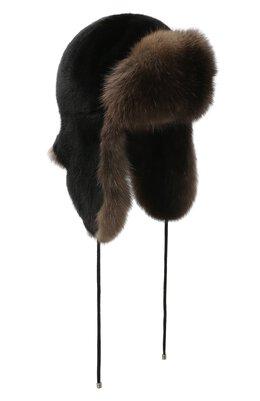 Норковая шапка-ушанка Kussenkovv 92803504094