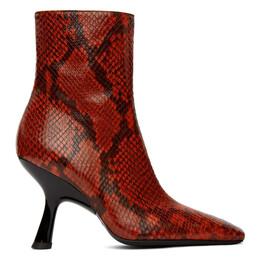 Simon Miller Red Lizard Foxy Boots F140-9031