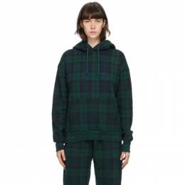 Noon Goons Green Tartan Plaid Icon Hoodie NGFW20-005