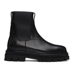 3.1 Phillip Lim Black Lug Sole Sam Chelsea Boots SSF0-T738MAR