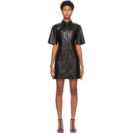 Nanushka Black Vegan Leather Berto Dress NW20PFDR00399