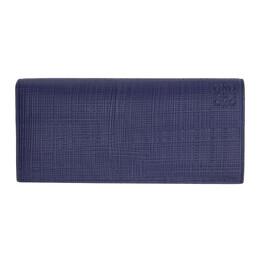 Loewe Navy Long Horizontal Wallet 101.88.978