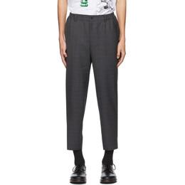 Comme Des Garcons Homme Deux Grey Wool Check Trousers DF-P030-051