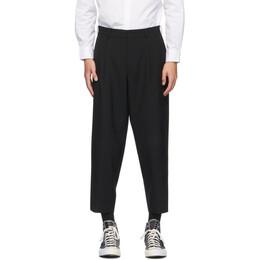 Comme Des Garcons Homme Deux Black Tropical Wool Trousers DF-P033-051