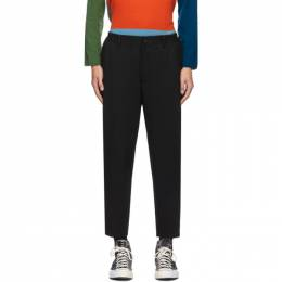 Comme Des Garcons Homme Deux Black Wool Yarn-Dyed Trousers DF-P031-051