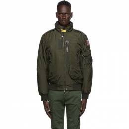 Parajumpers Green Down Masterpiece Fire Bomber Jacket PM JCK MA06