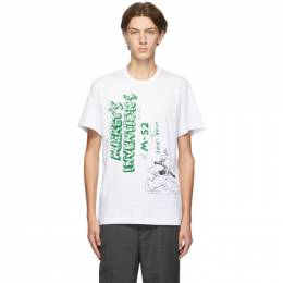 Comme Des Garcons Homme Deux White Mickeys Inventions T-Shirt DF-T010-051