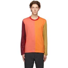 Comme Des Garcons Homme Deux Multicolor Colorblocked Long Sleeve T-Shirt DF-T001-051