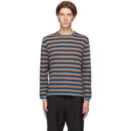 Comme Des Garcons Homme Deux Multicolor Striped Sweater DF-N503-051