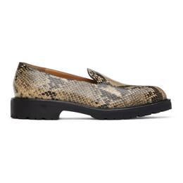 Dries Van Noten Beige Snake Loafers MW28/012 QU302