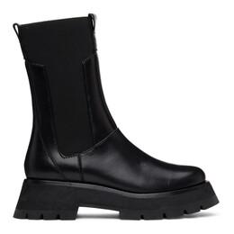 3.1 Phillip Lim Black Lug Sole Kate Mid-Calf Chelsea Boots SSF0-T748SEN