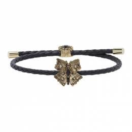 Alexander McQueen Black Friendship Bracelet 630119CVJCK