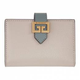 Givenchy Grey and Pink GV3 Card Case BB601HB056