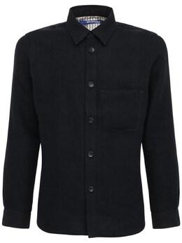 Milled Wool & Linen Twill Shirt Jacket Junya Watanabe 72I66G020-MQ2