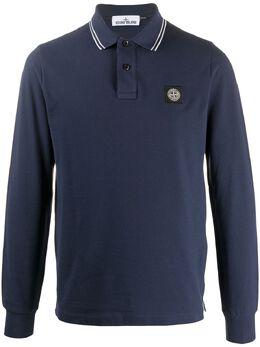 Stone Island рубашка поло с отделкой в полоску 73152SS18