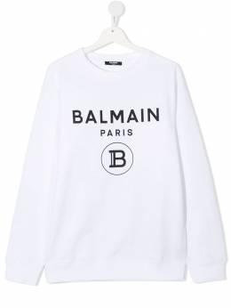 Balmain Kids толстовка с логотипом 6N4670