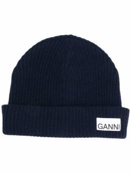 Ganni шапка в рубчик A2841