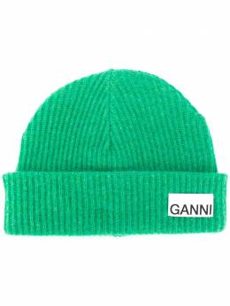 Ganni ribbed-knit hat A2841