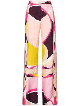 Emilio Pucci широкие брюки с абстрактным принтом 0XRT400X721