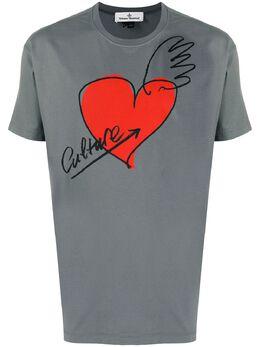 Vivienne Westwood Anglomania logo print cotton T-shirt 3701003921719